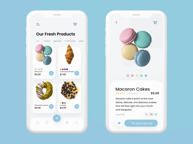 Bakery Shop UI/UX Design 🍪