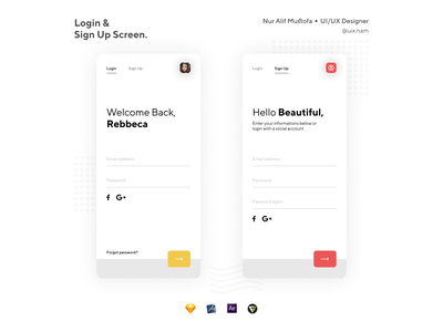Login and Sign Up Screen ✌🏻 mobile app design app forgot password sketch sign in signup login apple ui