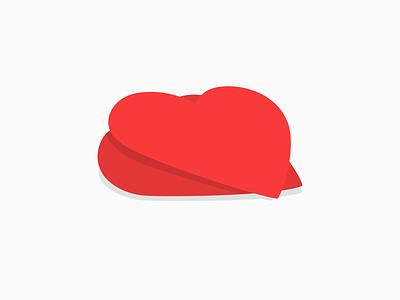 Heart to heart color branding illustration