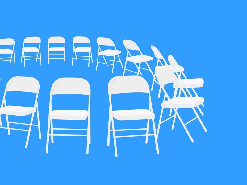 Folding Chairs illustrator typography photoshop branding vector illustration