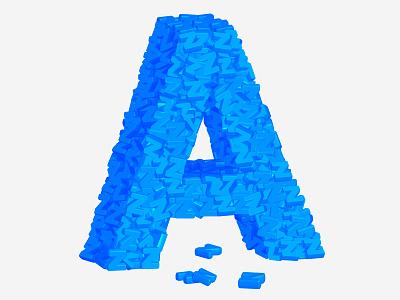 A-Z art direction color vector illustration