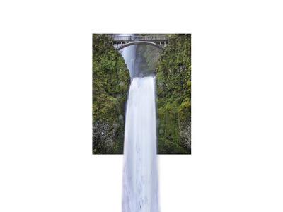 Waterfall art direction design photoshop