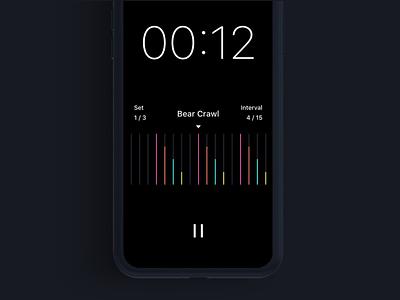 Pacer Timer Running ux ui design