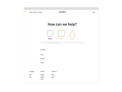 Level Help Desk ux design branding art direction