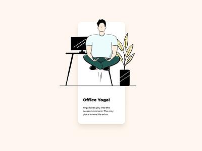 Office Yoga vector creative illustraion application behance dribbble uiux webdesigner digitaldesign webdesign web website mobile animation graphicdesign userinterface design appdesign ux ui
