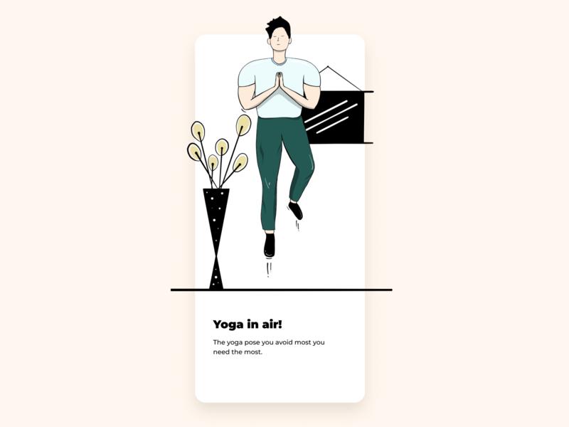 Yoga in air!