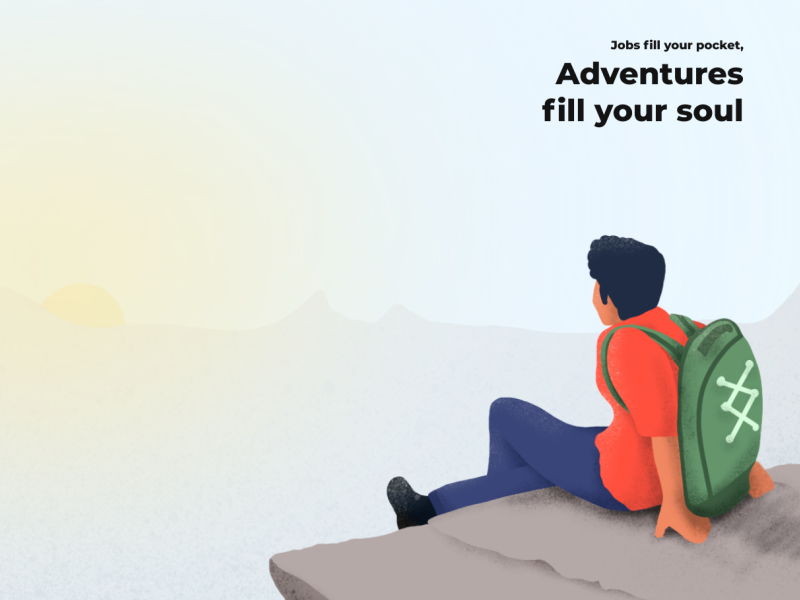 Adventure! uidesign daily inspirational designer character concept relax mountain man doodle creative design branding vector ux ui trending illustration app