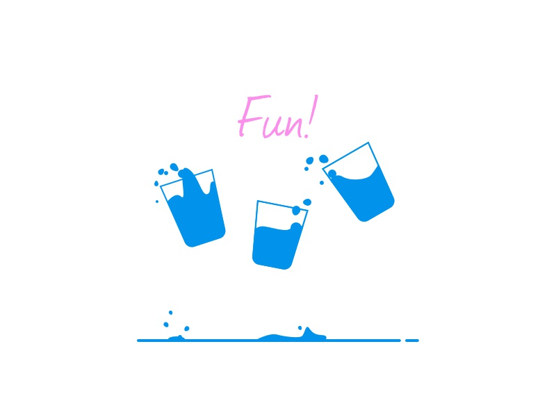 Fun fun line art doodle illustration