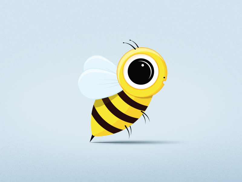 Bee bee illustration art direction