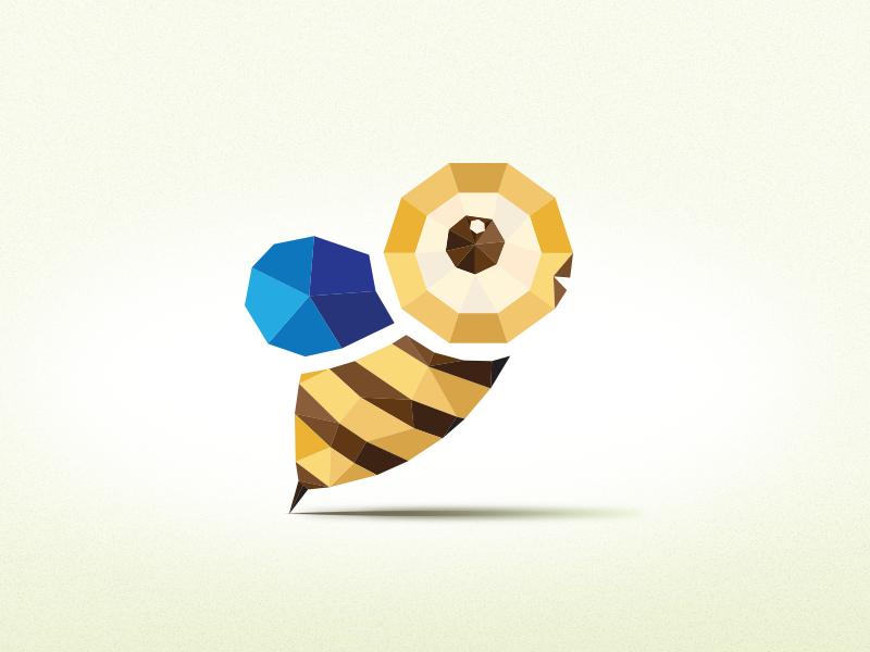 Origami Bee origami bee illustration art direction