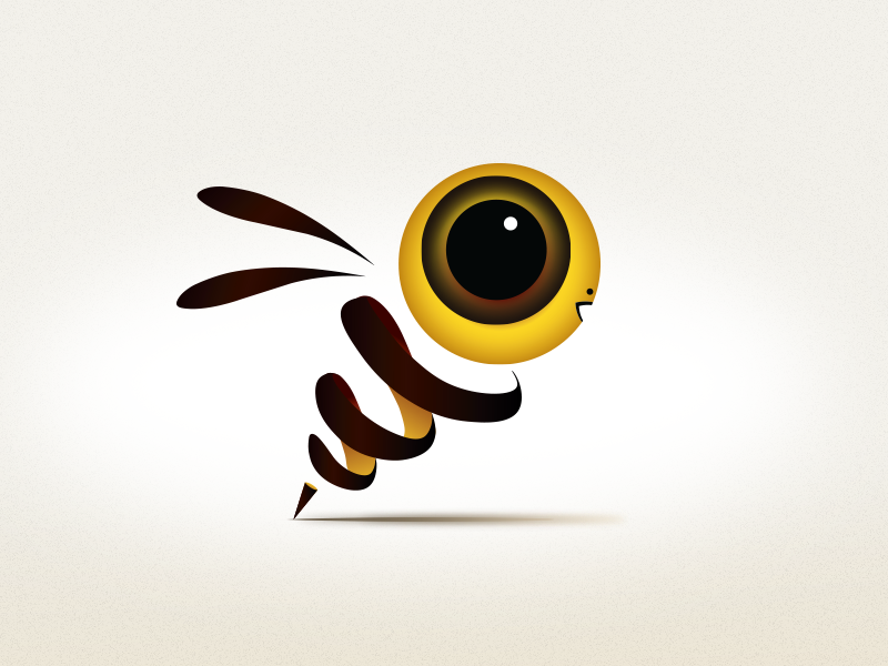3d Bee 3d abstract bee illustration art direction