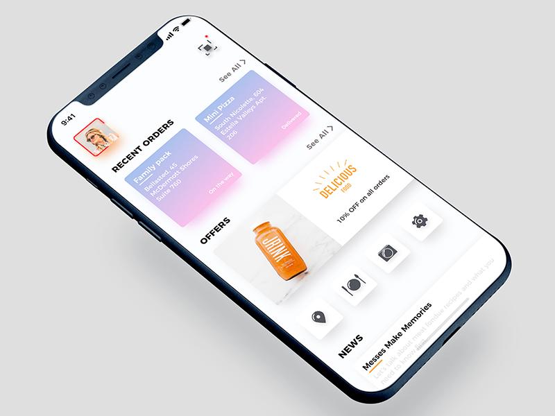 App Dashboard trending ui app food restaurant