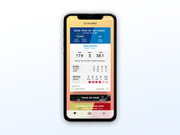 Cricket app dashboard