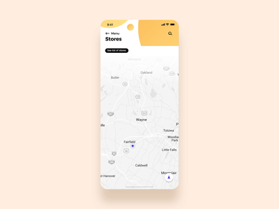 Map Pin button distance map view pulse mappin pin drop nearby trending interaction animation ui ux search app location stores pin map