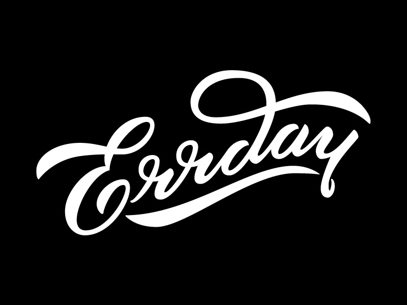 Errday everyday logo typography logotype lettering handlettering logo design script errday graphic design