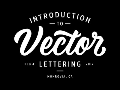 Intro to Vector Lettering Workshop los angeles digitize script vector workshop lettering hand lettering