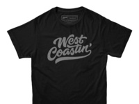 West Coastin' Black Tee
