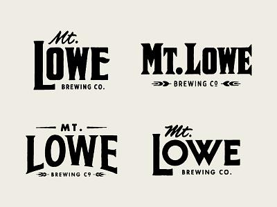 Mt. Lowe Brewing Lockups crowler beer label brewing company brewery spur serif logo design logo logotype lettering handlettering