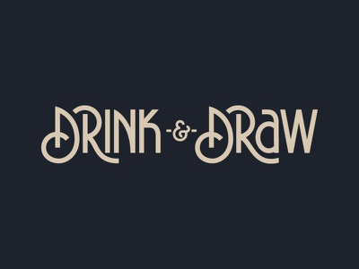 Drink & Draw 4.0 monoline community los angeles la drink and draw lettering hand lettering