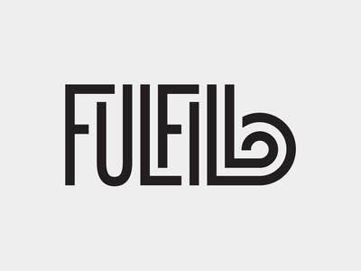 Fulfill swash ligature typography type fulfill monoline lettering hand lettering