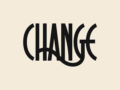 Change sans serif type change typography monoline ligature lettering