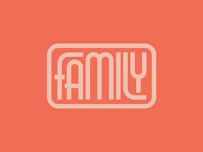 Family type interlock typography monoline family lettering