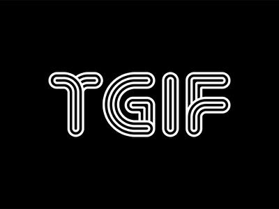 TGIF friday abstract line geometric typography tgif type lettering