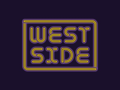 West Side Neon sign neon west side abstract line geometric typography type lettering