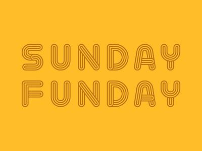 Sunday Funday line geometric line type font funday sunday vector typography type lettering
