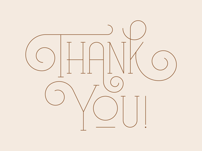 Thank you! typography type swash thanksgiving give thanks thank you monoline lettering