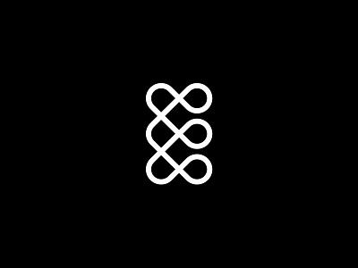 E line monoline unity e mark icon logo