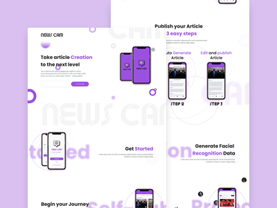 News Cam Landing page design website ui figmaafrica figma landing page design landing page news app