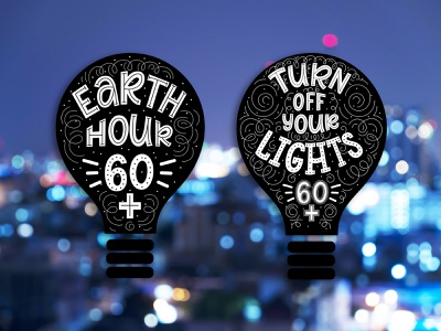 Logo for the Earth Hour promotion. logotype logodesign logo ecology earth hour typography doodle illustration design lettering vector