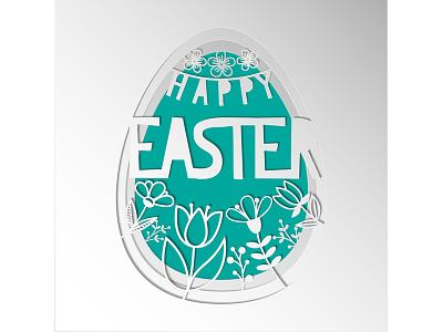 Vector paper cut. Easter egg. adobe illustrator paper flowers easter egg easter card poster paper style papercutting paper digital paper art paper art papercut illustration vector