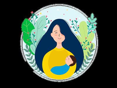 Vector logo for maternity blog. illustration for blog trend illustration motherhood mothers day flatillustration flat design illustration vector