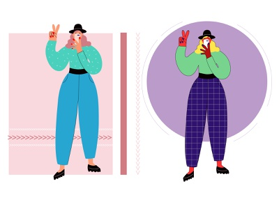 Flat girl. girl illustration girl character modern girl modern design flat character design flat character flat illustration design illustration vector