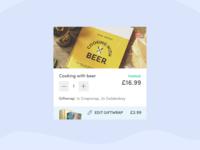 Basket / checkout card design - mobile