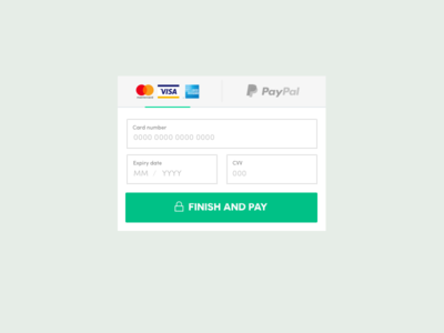 Card payment tab ui - mobile