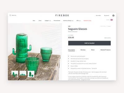 Product Page Concept - Ecommerce