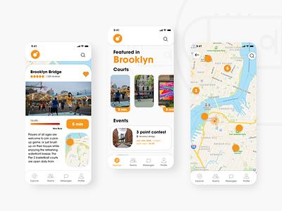Hoop Maps App typography app ux branding ui design