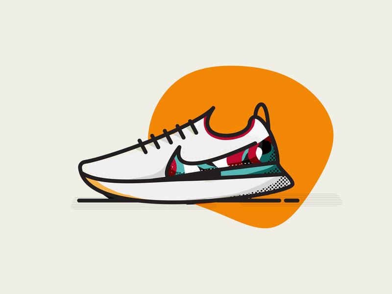 Nike React Infinity Run Flyknit round vector logo design illustration nike
