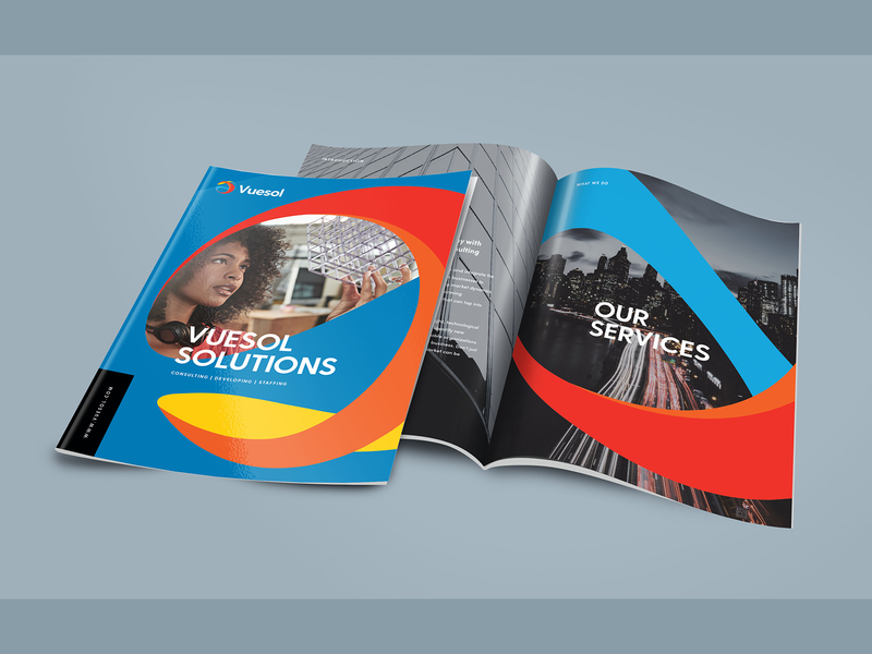 Brochure Design for IT Consulting Services brandrefresh design clean brand corporate brochure company brochure design