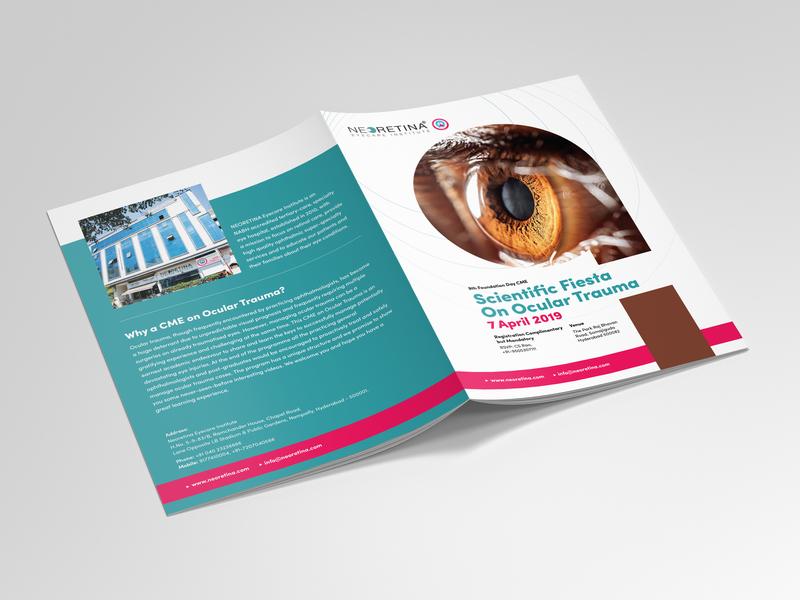 Neoretina Brochure simple design clean brochure design eye care