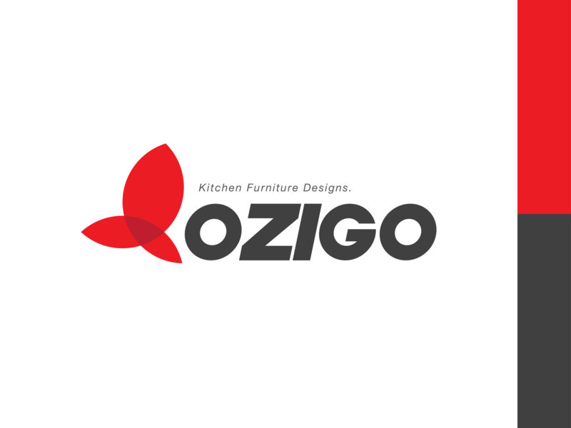 Ozigo Kitchen Furniture Logo logotype brandrefresh clean simple design typogaphy logo