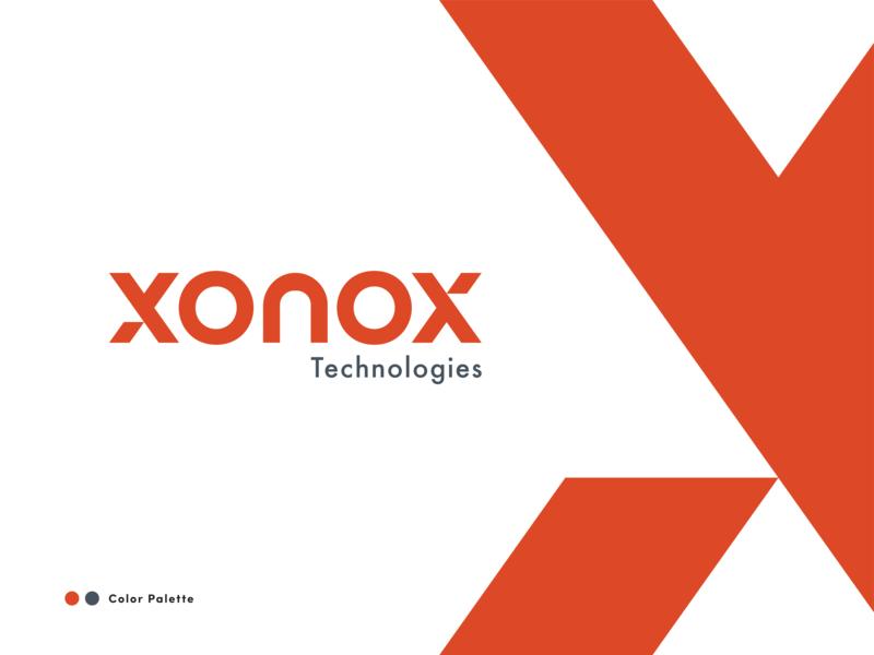 Xonox Logo Design gray orange design clean brandrefresh brand typogaphy logotype logo design logo