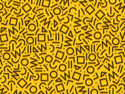 90's Pattern Work geometric shapes patterns print illustration 90s pattern