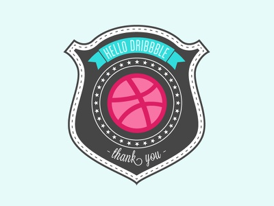 My first shot dribbble thanks awesome graphic design