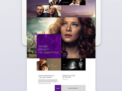 Landing Page for CANAL+ layout grid layout grid branding designs canalplus canal broadcast design tv app tv series tv shows responsive website responsive design responsive design ux ui webdesign web interface