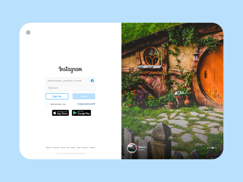 Weekly Warm-Up | Instagram Login Page challenge branding design dribbbleweeklywarmup login design login page login form login screen login weekly challenge colorful branding app designer app design minimal design app facebook instagram