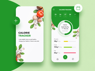 Day 3 of 100 - Calorie Tracker App tracker calorie diet 100 day project illustration 100days 100daychallenge ux minmal design ui app